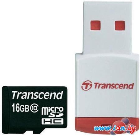 Карта памяти Transcend microSD (Class 10) 16GB (TS16GUSDHC10-P3) в Могилёве