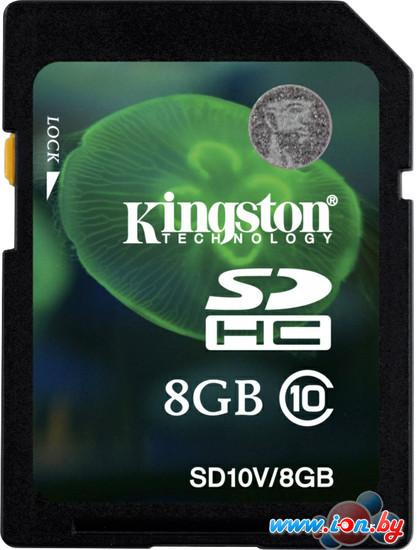 Карта памяти Kingston SDHC (Class 10) 8GB (SD10V/8GB) в Могилёве