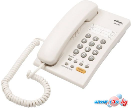 Проводной телефон Ritmix RT-330 (белый) в Могилёве