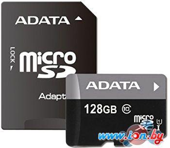 Карта памяти A-Data Premier microSDXC UHS-I U1 Class 10 128GB [AUSDX128GUICL10-RA1] в Могилёве