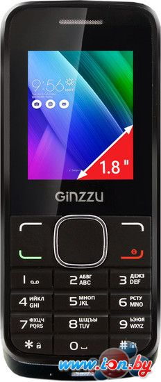 Мобильный телефон Ginzzu M101 Dual mini Black в Могилёве
