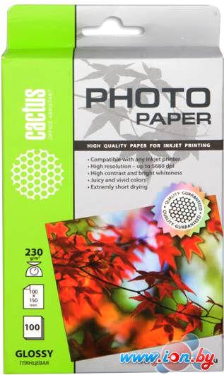 Фотобумага CACTUS Глянцевая A6 230 г/кв.м. 100 листов (CS-GA6230100) в Могилёве