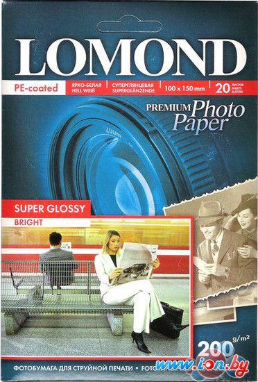 Фотобумага Lomond Суперглянцевая ярко-белая A6 200 г/м2 20л (1101113) в Могилёве