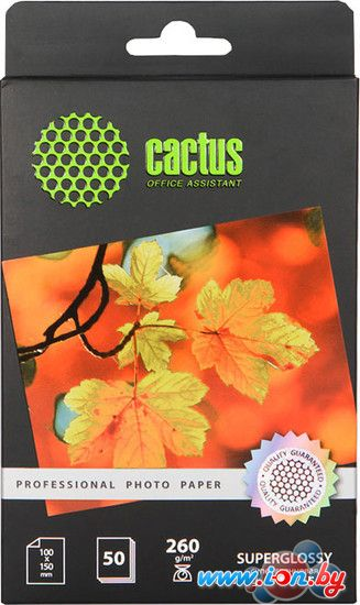 Фотобумага CACTUS Суперглянцевая A6 260 г/кв.м. 50 листов (CS-HGA626050) в Могилёве