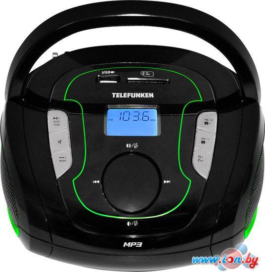 Портативная аудиосистема TELEFUNKEN TF-SRP3471B чёрный с зелёным в Могилёве