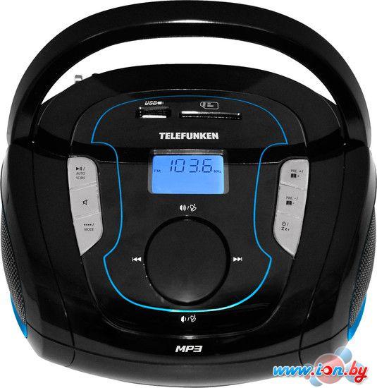 Портативная аудиосистема TELEFUNKEN TF-SRP3471B чёрный с синим в Могилёве