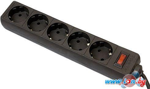 Сетевой фильтр Defender ES 5 розеток, черный, 5 м в Могилёве