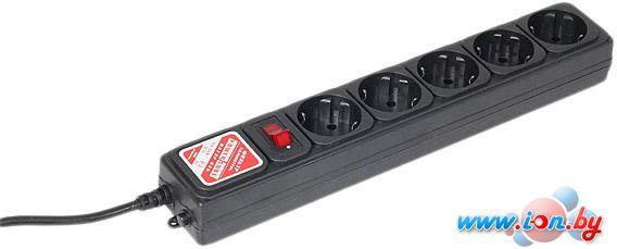 Сетевой фильтр Power Cube 5 розеток, черный, 5 м (SPG-B-15-BLACK) в Могилёве