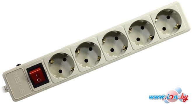 Сетевой фильтр SVEN Optima Base 5 розеток, серый, 3.1 м в Могилёве