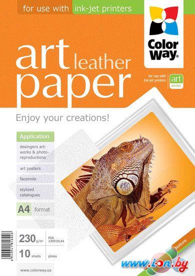 Фотобумага Colorway CW ART глянцевая фактура кожа A4 230г/м 10л (PGA230010LA4) в Могилёве