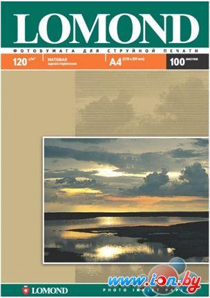Фотобумага Lomond матовая односторонняя A4 120 г/кв.м. 100 листов (0102003) в Могилёве