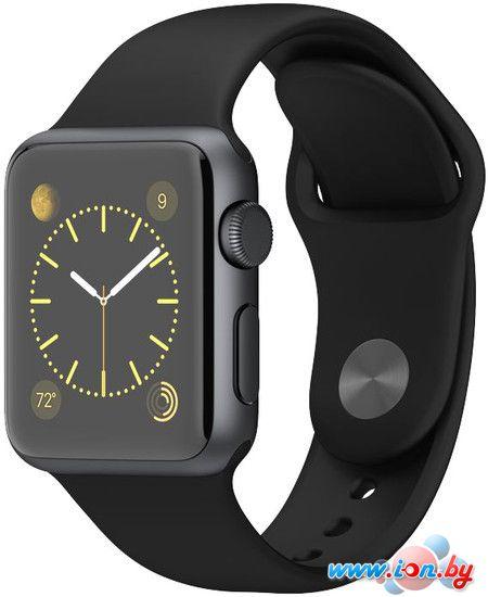 Умные часы Apple Watch Sport 38mm Space Gray with Black Sport Band (MJ2X2) в Могилёве