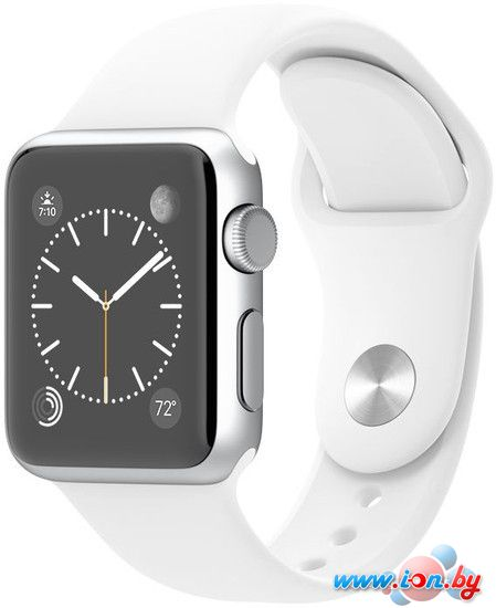 Умные часы Apple Watch Sport 38mm Silver with White Sport Band (MJ2T2) в Могилёве