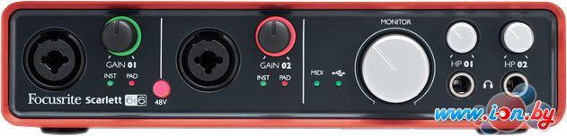 Аудиоинтерфейс Focusrite Scarlett 6i6 в Могилёве