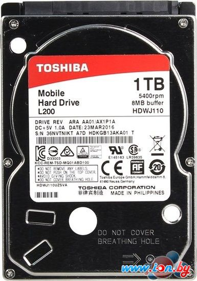 Жесткий диск Toshiba L200 1TB [HDWJ110EZSTA] в Могилёве