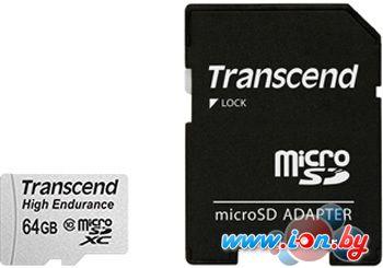 Карта памяти Transcend microSDXC HE (Class 10) UHS-I 64GB + адаптер [TS64GUSDXC10V] в Могилёве