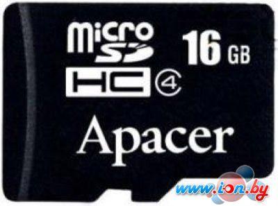 Карта памяти Apacer microSDHC (Class 4) 16GB (AP16GMCSH4-RA) в Могилёве