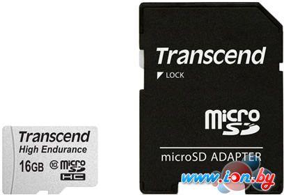 Карта памяти Transcend microSDHC HE (Class 10) UHS-I 16GB + адаптер [TS16GUSDHC10V] в Могилёве