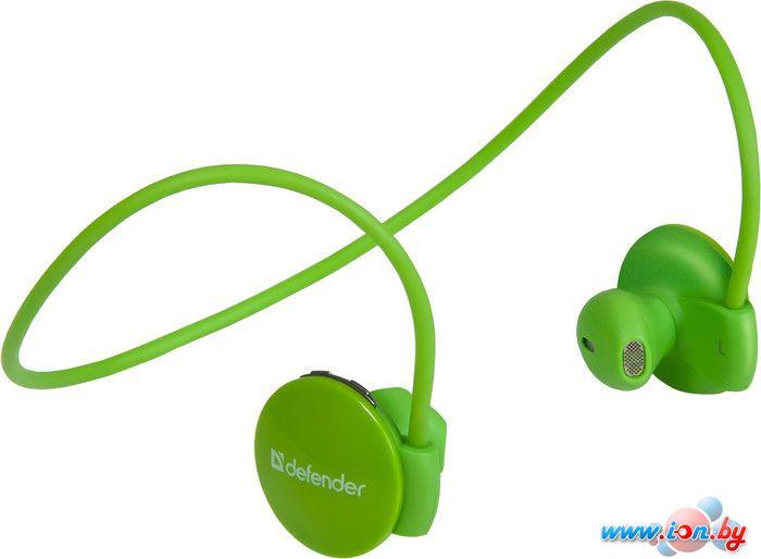 Наушники с микрофоном Defender FreeMotion B611 зеленый [63613] в Могилёве