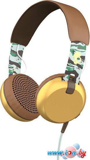 Наушники с микрофоном Skullcandy Grind Scout Camo/Gold в Могилёве