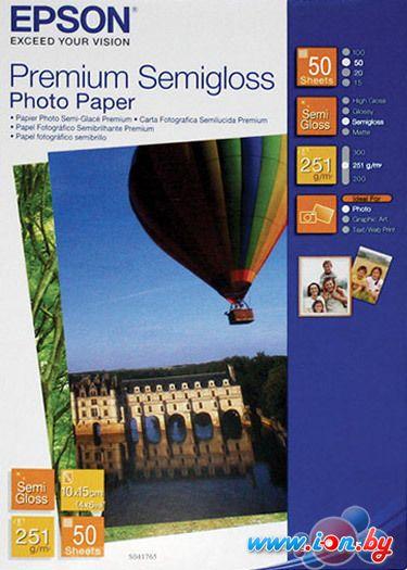 Фотобумага Epson Premium Semigloss Photo Paper 10х15 50 листов (C13S041765) в Могилёве