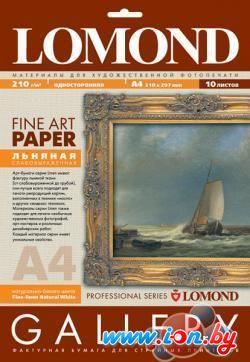 Фотобумага Lomond Middle-Linen Natural White A4 210 г/кв.м. 10 листов (0913141) в Могилёве