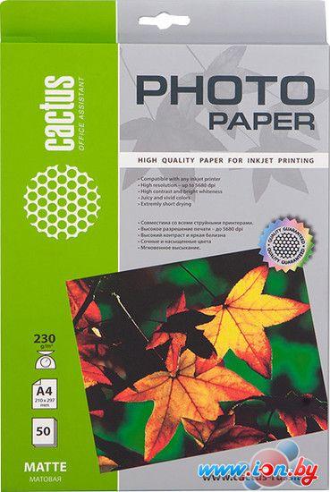 Фотобумага CACTUS Матовая A4 230 г/кв.м. 50 листов(CS-MA423050) в Могилёве