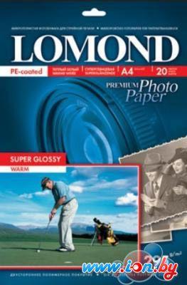 Фотобумага Lomond суперглянцевая односторонняя A4 295 г/кв.м. 20 листов (1108101) в Могилёве