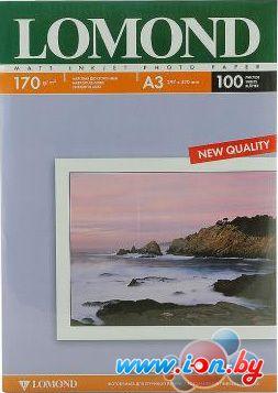Фотобумага Lomond Матовая двухстороняя А3 170 г/кв.м. 100 листов (0102012) в Могилёве