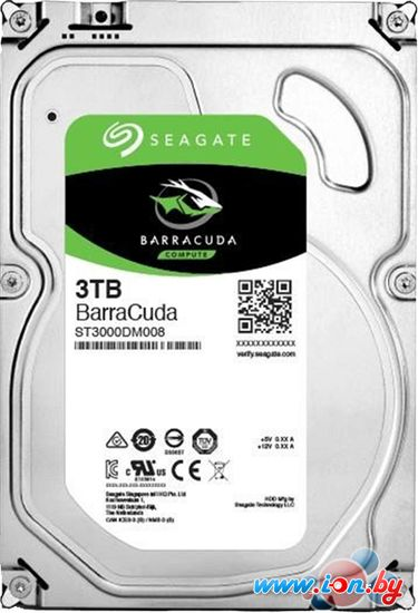 Жесткий диск Seagate BarraCuda 3TB [ST3000DM008] в Могилёве