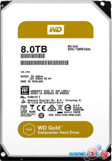 Жесткий диск WD WD Gold 8TB [WD8002FRYZ] в Могилёве