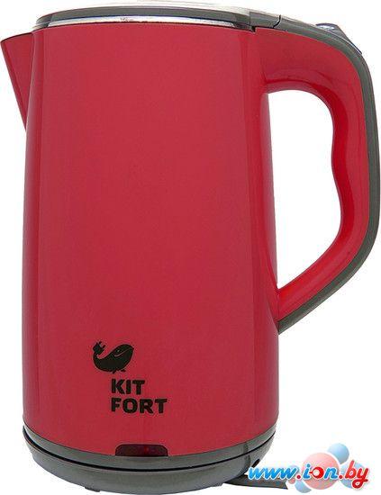 Чайник Kitfort KT-607-2 (красно-серый) в Могилёве