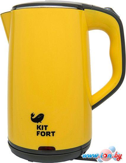 Чайник Kitfort KT-607-3 (желто-серый) в Могилёве