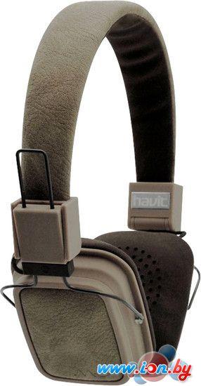 Наушники с микрофоном Havit HV-H358F (коричневый) в Могилёве