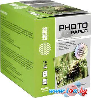 Фотобумага CACTUS Матовая 10х15 230 г/кв.м. 500 листов(CS-MA6230500) в Могилёве