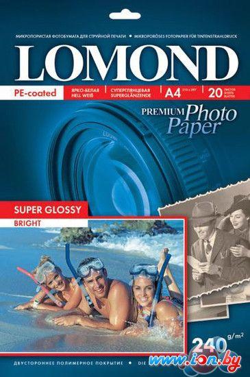 Фотобумага Lomond Суперглянцевая A4 240 г/кв.м. 20 л (1105100) в Могилёве