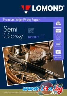Фотобумага Lomond Полуглянцевая ярко-белая A4 200 г/м2 20 листов [0102149] в Могилёве
