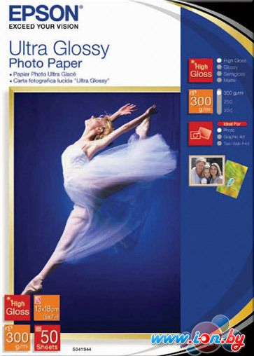 Фотобумага Epson Ultra Glossy Photo Paper 13x18 50 листов (C13S041944) в Могилёве