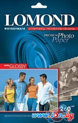 Фотобумага Lomond Суперглянцевая ярко-белая A5 260 г/кв.м. 20 листов (1103104) в Могилёве