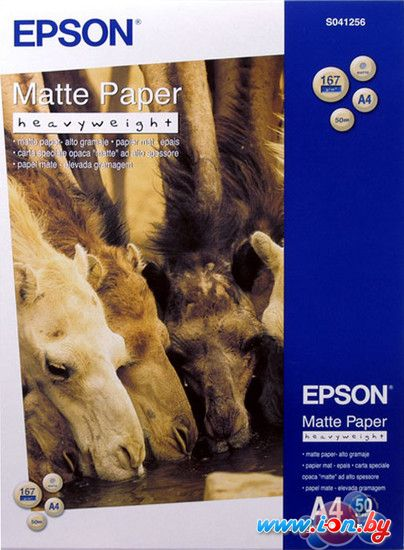 Фотобумага Epson Matte Paper-Heavyweight A4 50 листов (C13S041256) в Могилёве