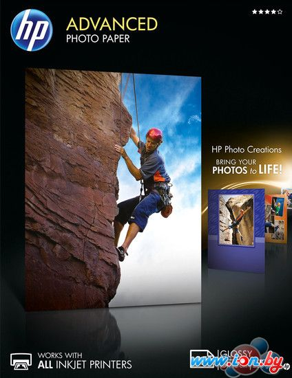 Фотобумага HP Advanced Glossy Photo Paper 13x18 cm 250 г/м2 25 л (Q8696A) в Могилёве