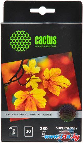 Фотобумага CACTUS Prof Высокоглянцевая 10x15 280 г/м2 20 листов [CS-HGA628020] в Могилёве