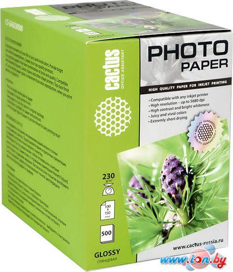 Фотобумага CACTUS Глянцевая A6 230 г/кв.м. 500 листов (CS-GA6230500) в Могилёве