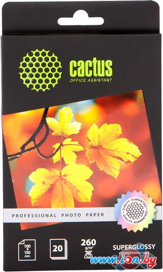 Фотобумага CACTUS Суперглянцевая A6 260 г/кв.м. 20 листов (CS-HGA626020) в Могилёве
