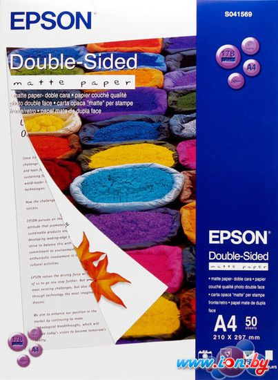 Фотобумага Epson Double-Sided Matte Paper A4 50 листов (C13S041569) в Могилёве
