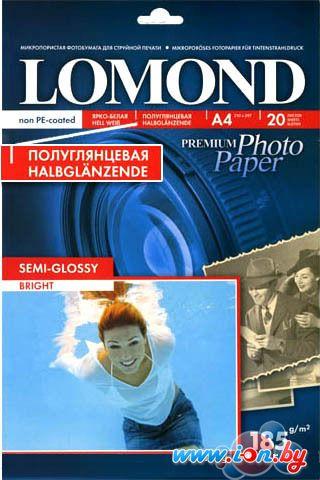 Фотобумага Lomond Полуглянцевая А4 185 г/кв.м. 20 листов (1101306) в Могилёве