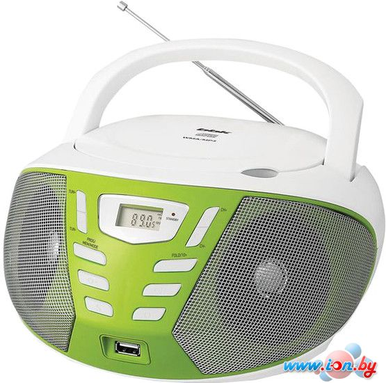 Портативная аудиосистема BBK BX193U (белый/зеленый) в Могилёве