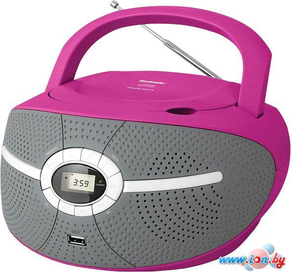 Портативная аудиосистема BBK BX195U (серый/розовый) в Могилёве