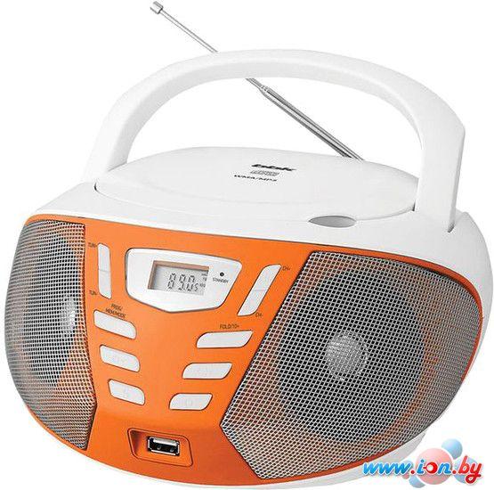 Портативная аудиосистема BBK BX193U (белый/оранжевый) в Могилёве