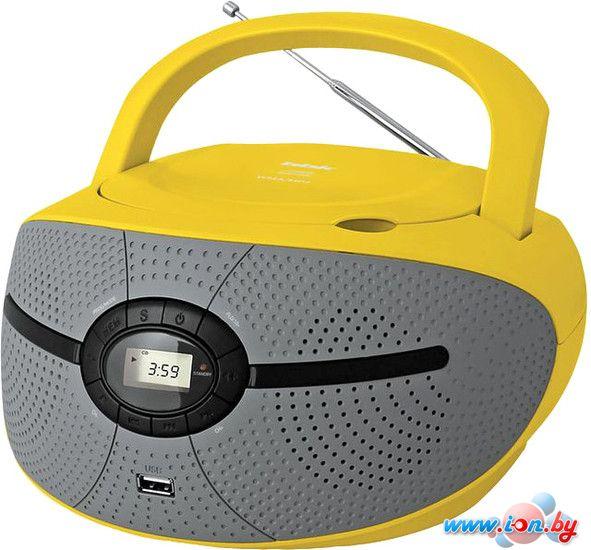 Портативная аудиосистема BBK BX195U (серый/желтый) в Могилёве